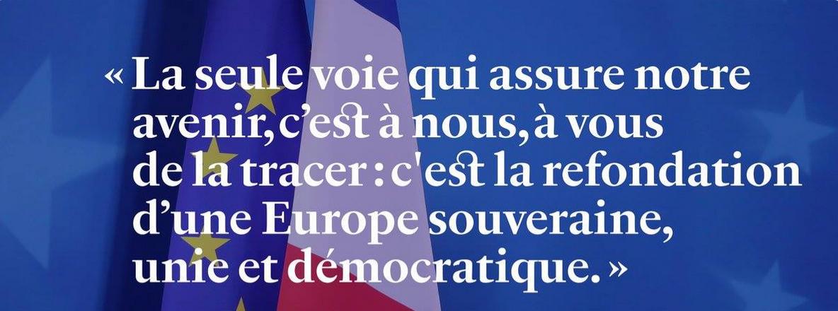 Refondation d'une Europe souveraine, unie, démocratique