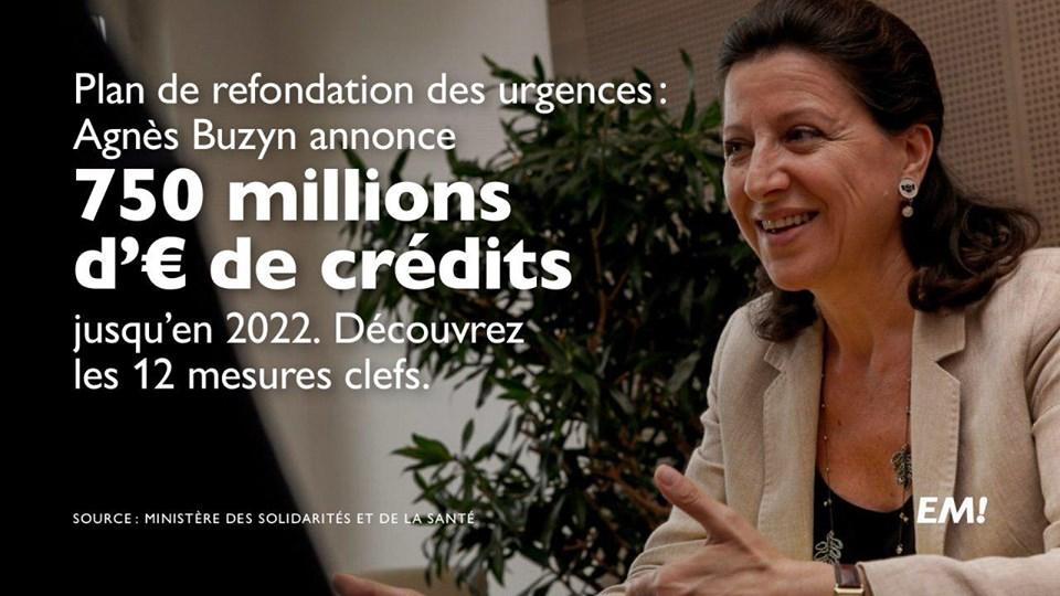 Urgences : 750 millions d'euros pour refonder le système