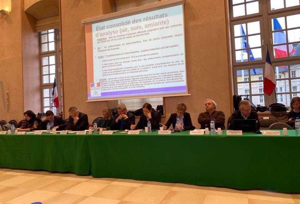 Incendie de Lubrizol : les dernières informations du comité de transparence et du dialogue