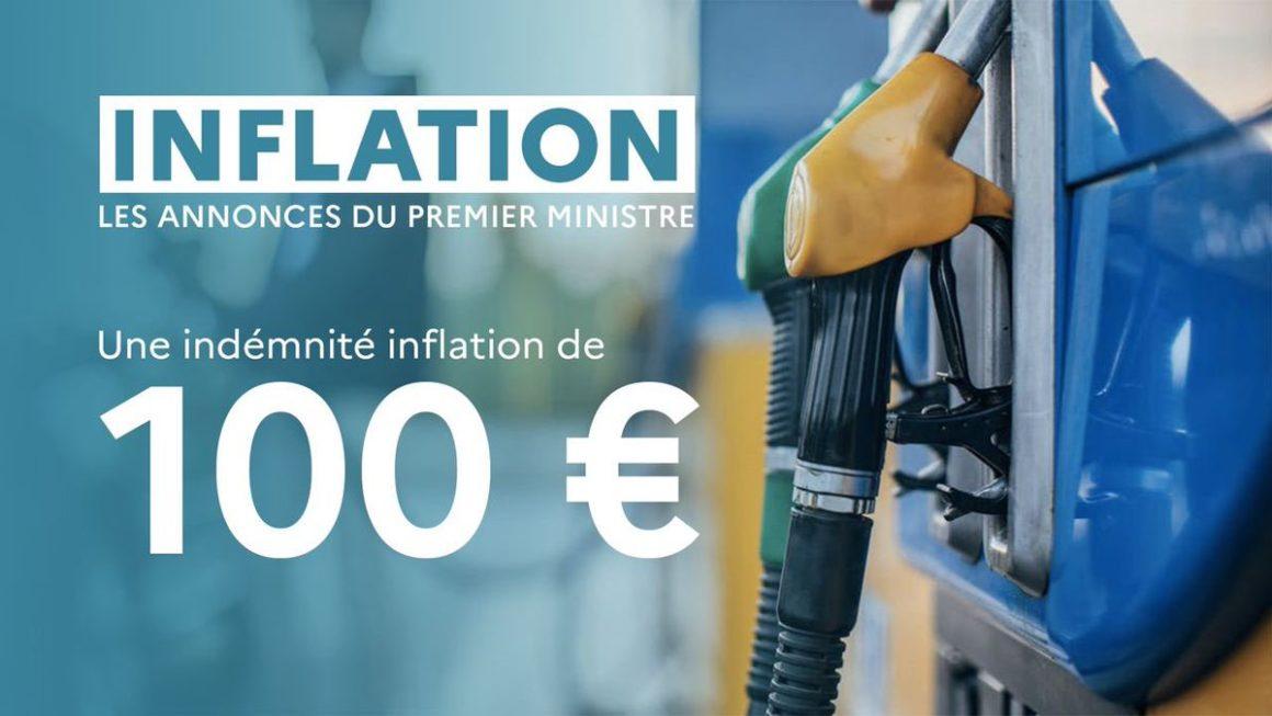 Face à la hausse des prix, nous lançons l'indemnité inflation de 100 € pour tous les Français touchant moins de 2000 € par mois