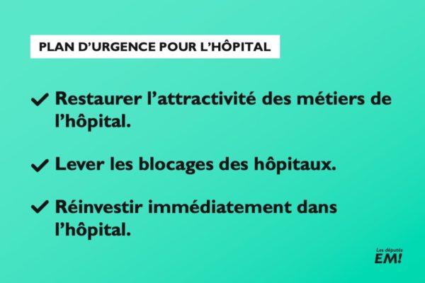 Hôpitaux : le Gouvernement détaille son plan d'urgence