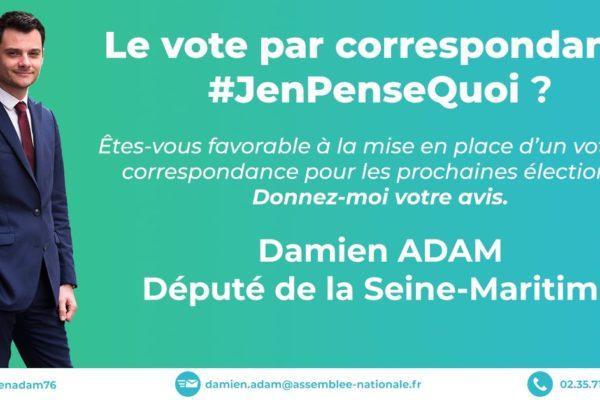 Le vote par correspondance, #JEnPenseQuoi ? Les résultats de la dernière consultation