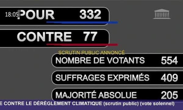 Vote de la loi climat à l'Assemblée pour ancrer l'écologie dans nos quotidiens