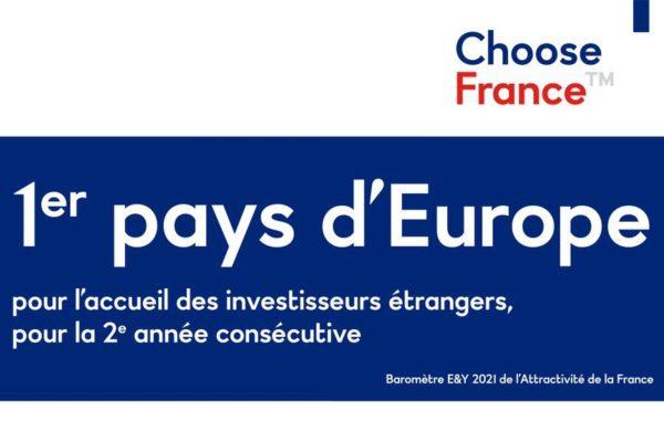 Investissements étrangers : la France est n°1 en Europe pour la 2e année consécutive !