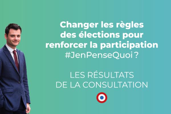 Changer les règles des élections pour renforcer la participation #JenPenseQuoi? Les résultats de la consultation